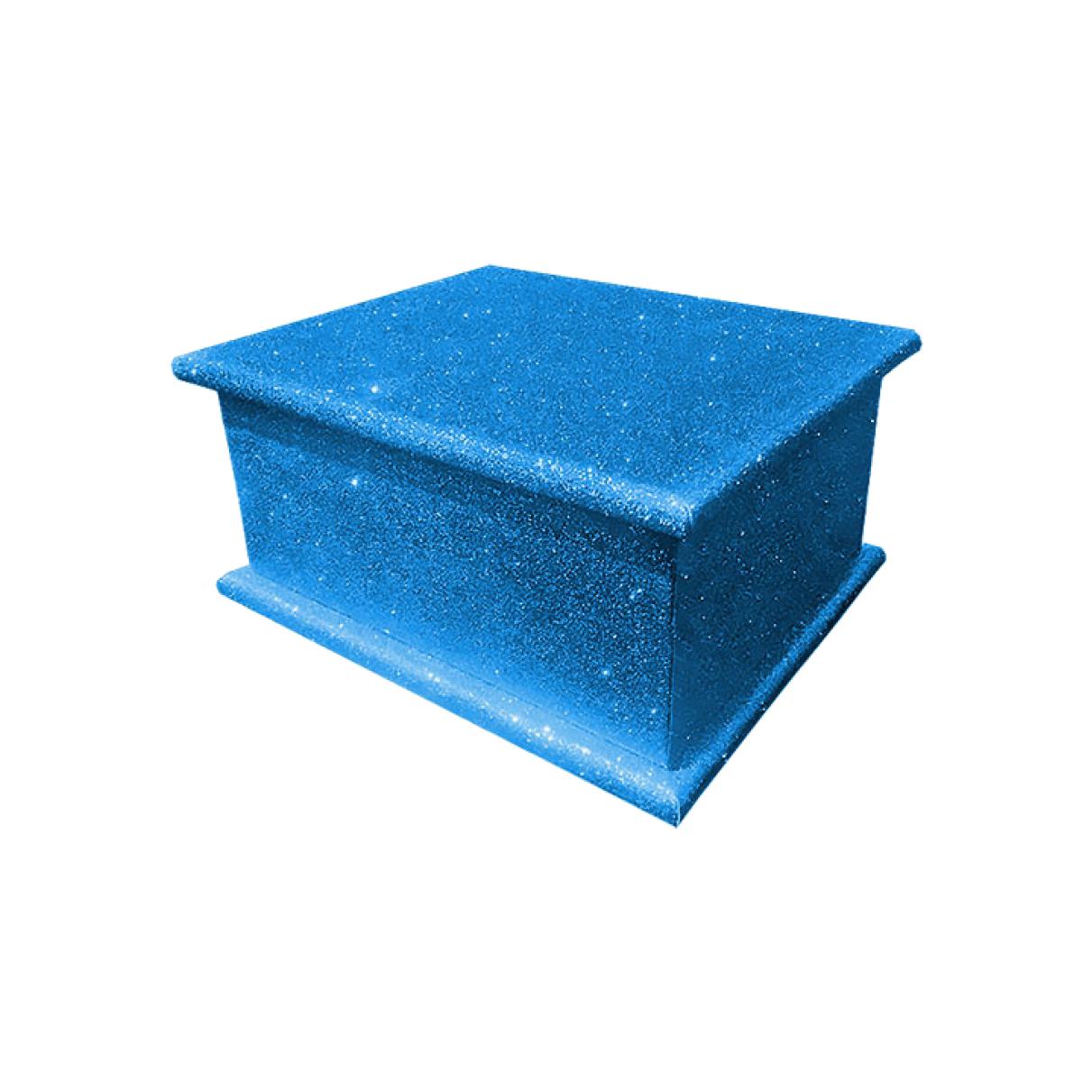 Glitter Adult Ashes Casket – Blue