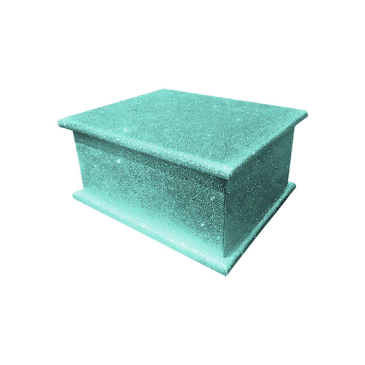 Glitter Adult Ashes Casket – Aquamarine